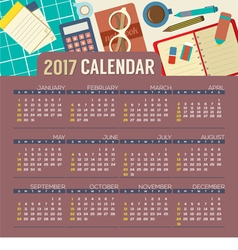 Op View Workplace 2017 Printable Calendar vector