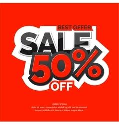 Original concept poster discount sale vector image
