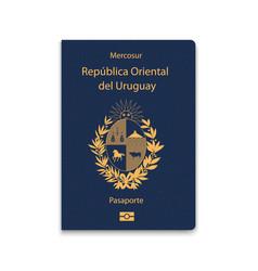 Passport uruguay citizen id template vector