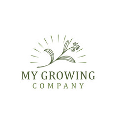 Plant leaf for your growing company logo farming vector