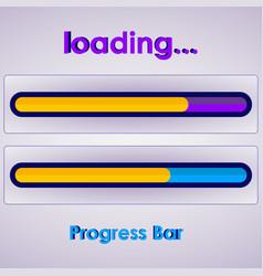progress loading bar on white vector image