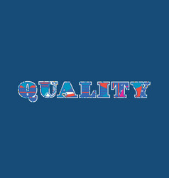 Quality concept word art vector
