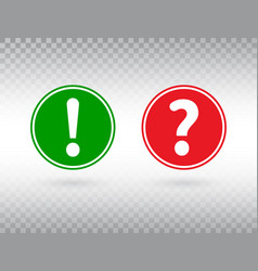 question and exclamation mark icons set help sign vector image