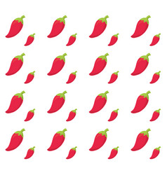 red chili background design vector image