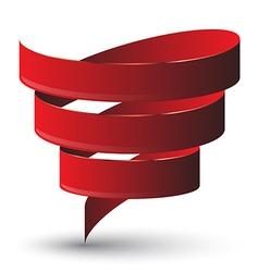 Red ribbon twist vector