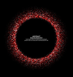 Round dotted frame with space for text frame vector