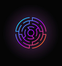 Round labyrinth colorful icon vector