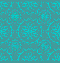 seamless green white abstract geometric pattern vector image