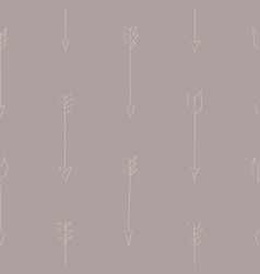 seamless pattern with drawing arrows vector image