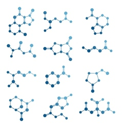 Set of molecules vector image
