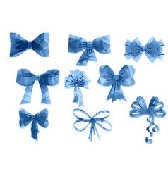 set of triangular ribbon vector image vector image