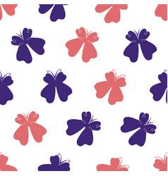 Simple hand drawn butterflies pattern-01 vector