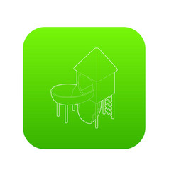 slide pipe icon green vector image