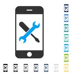 Smartphone tools icon vector