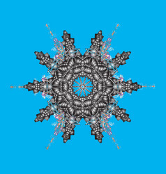 snowflakes background flat design with abstract vector image