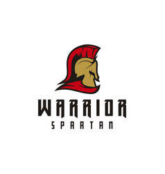 sparta logo spartan helmet logo design vector image