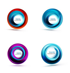 swirl circular icons spiral motion and rotation vector image