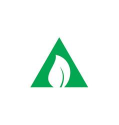 triangle leaf eco logo vector image