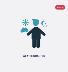 Two color weathercaster icon from people concept vector