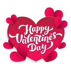 valentine s day paper cut card 14th of february vector image