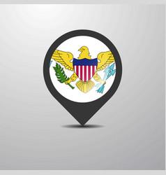 Virgin islands us map pin vector