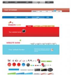 web menus vector image