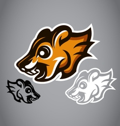 Wild Squirrel head brown logo 2902 vector image