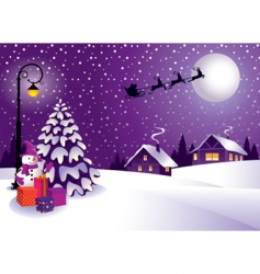 Christmas in the country vector image vector image