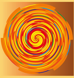 Color spiral on a beige background abstraction vector