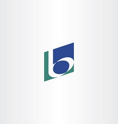 dark green blue b letter b logo icon vector image