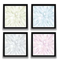 Diamond buttons vector image vector image