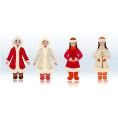 eskimo girl vector image