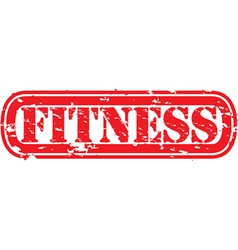Fitness stamp vector image