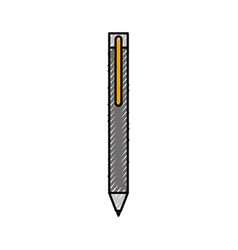 gray pen for writing letter supply object vector image vector image