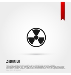 Radiation icon Danger concept Flat design s vector image