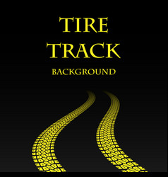 yellow warp tire track vector image vector image