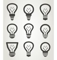 Bulb an icon2 vector image vector image