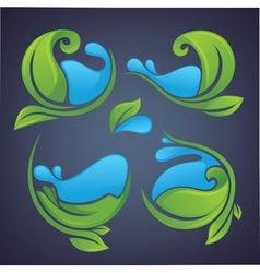 leaves and water vector image