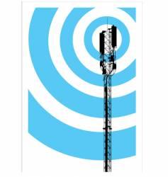 mobile communication mast vector image
