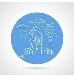 Sea waves blue icon vector image