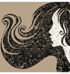 grunge closeup decorative vintage woma vector image vector image