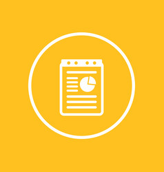 report document icon in circle vector image