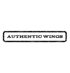 authentic wings watermark stamp vector image vector image