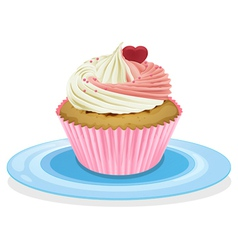 cake in a plate vector image vector image