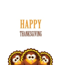 Cartoon turkey in hat Card for Thanksgiving Day vector image vector image