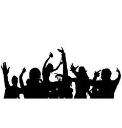 Dancing Crowd Silhouette vector image