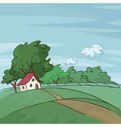 late summer landscape vector image