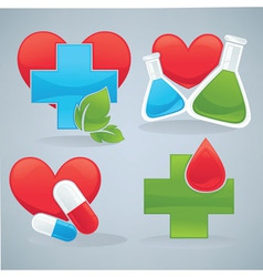 life and health vector image vector image