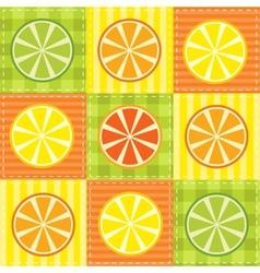 patchwork fruit vector image