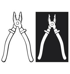 pliers vector image vector image